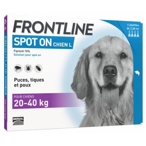 Frontline Spot-On Chien L (20-40 kg) 4 Pipettes
