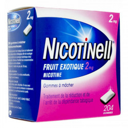 Nicotinell 2mg fruits exotiques 204 gommes