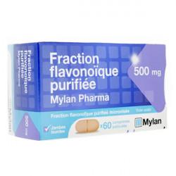 Fraction flavonoïque purifiée 500 mg Mylan 60 comprimés