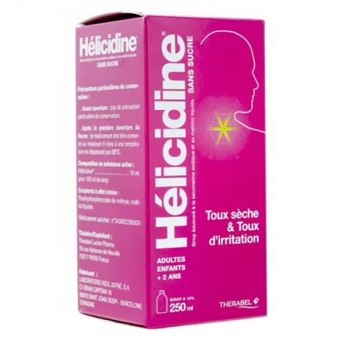 Hélicidine sans sucre sirop 250 ml