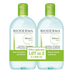Bioderma Sébium H2O Solution Micellaire Lot de 2 x 500 ml