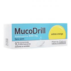 Mucodrill 10 comprimés effervescents