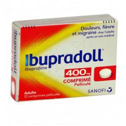 IBUPRADOLL 400 mg, comprimé pelliculé, boîte de 12