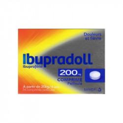 IBUPRADOLL 200 mg, comprimé pelliculé, boîte de 24