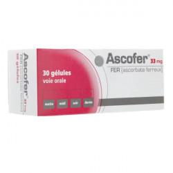 ASCOFER 33 mg, 30 gélules