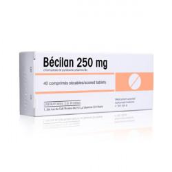 BECILAN 250 mg, 40 comprimés sécables