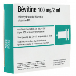 BEVITINE 100 mg/2 ml, solution injectable en ampoule