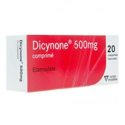 Dicynone 500 mg 20 comprimés