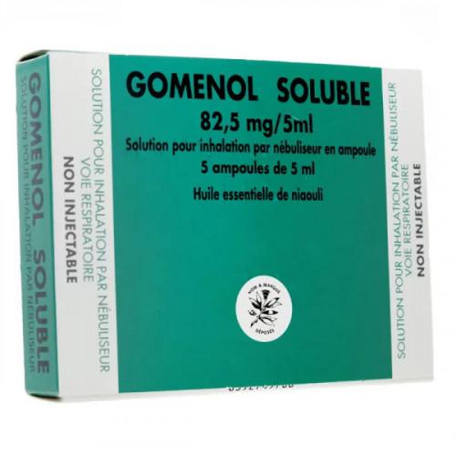 Gomenol soluble 5 ampoules