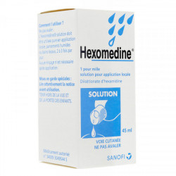 Hexomedine 1 pour mille solution 45 ml