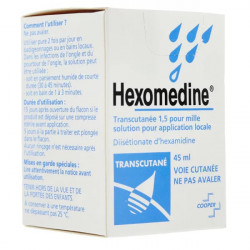 Hexomedine transcutanée solution 45 ml