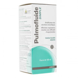 Pulmofluide Simple adulte Gerda solution buvable 180 ml