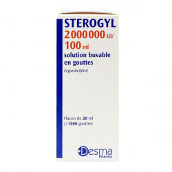 STEROGYL 2 000 000 UI/100 ml, solution buvable en gouttes 20ml