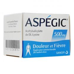 Aspégic 500 mg poudre, 20 sachets