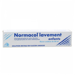 NORMACOL LAVEMENT ENFANTS, solution rectale, récipient unidose 60ml