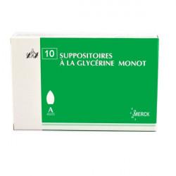 SUPPOSITOIRES A LA GLYCERINE MONOT ADULTES, boîte de 10