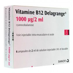 Vitamine B12 Delagrange 1000µg/2ml 6 ampoules