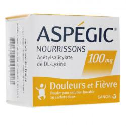Aspégic 100 mg nourrisson poudre 20 sachets