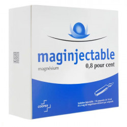 Maginjectable 0,8% 10 ampoules