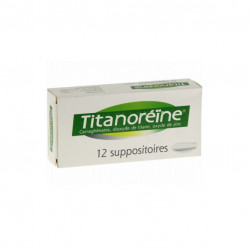 TITANOREINE, suppositoire, boîte de 1 film thermosoudé de 12