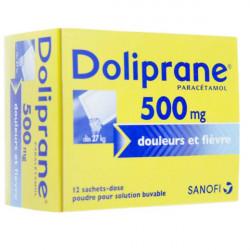 Doliprane 500 mg poudre 12 sachets