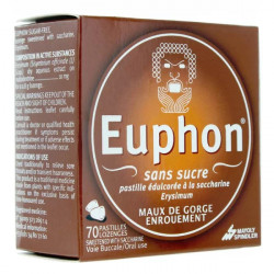 Euphon sans sucre 70 pastilles