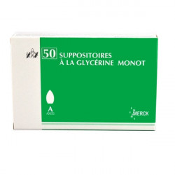 SUPPOSITOIRES A LA GLYCERINE MONOT ADULTES, boîte de 1 sac de 50