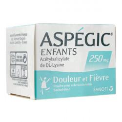 Aspégic 250 mg enfants poudre 20 sachets