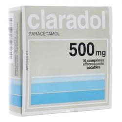 Claradol 500 mg 16 comprimés effervescents