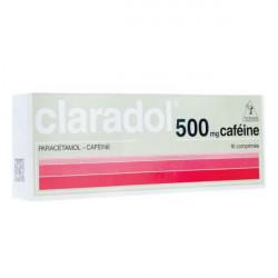 Claradol caféine 500 mg 16 comprimés