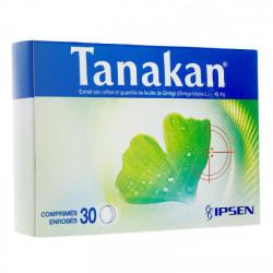Tanakan 40 mg 30 comprimés