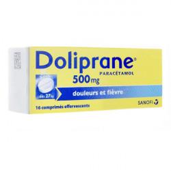 Doliprane 500 mg 16 comprimés effervescents
