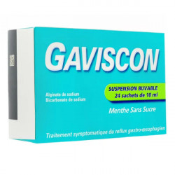 Gaviscon arôme menthe suspension buvable 24 sachets
