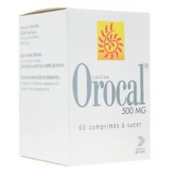 Orocal carbonate de calcium 500mg 60 comprimés à sucer