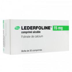 LEDERFOLINE 15 mg, comprimé sécable, boîte de 30