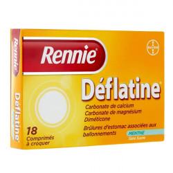 Rennie Deflatine 18 comprimés à croquer