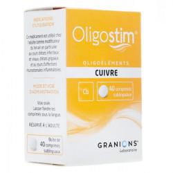 Oligostim cuivre 40 comprimés sublinguaux