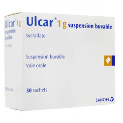Ulcar 1 g suspension buvable 30 sachets