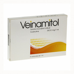 VEINAMITOL 3500 mg/7 ml, solution buvable à diluer 10 ampoules