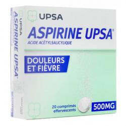 UPSA aspirine 500 mg 20 comprimés effervescents