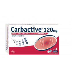 CARBACTIVE 120 mg, 30 gélules
