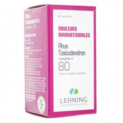 Lehning Rhus Toxicodendron Complexe n°80 solution buvable 30 ml