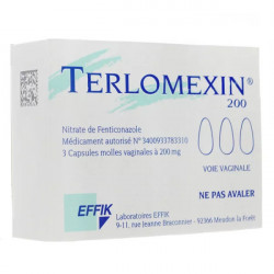 Terlomexin 200 mg 3 capsules vaginales