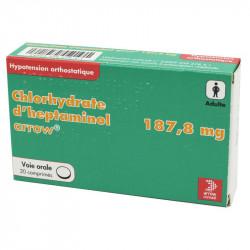 CHLORYDRATE D'HEPTAMINOL ARROW 187,8 mg, comprimé, boîte de 20