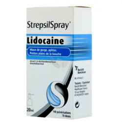 Strepsil Spray lidocaine collutoire 20ml