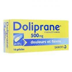 Doliprane 500 mg, 16 gélules