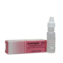 CROMOPTIC 2 %, collyre en solution, flacon de 10 ml