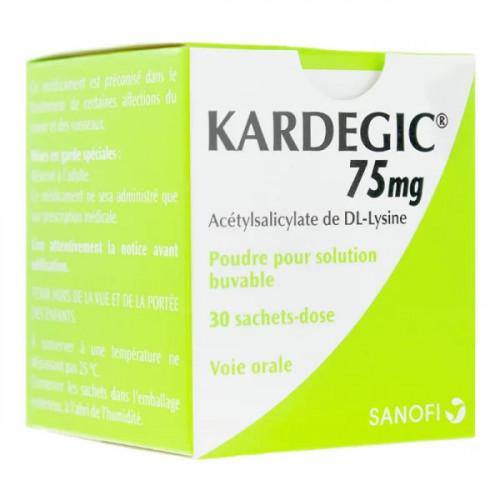 Kardegic 75 mg poudre 30 sachets