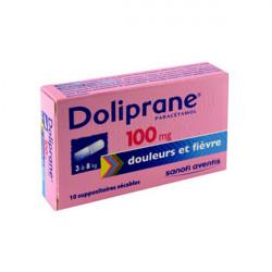 DOLIPRANE 100 mg, suppositoire sécable, boîte de 10