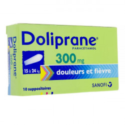 Doliprane 300 mg 10 suppositoires